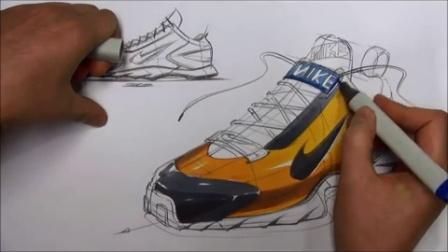 鞋子设计马克笔手绘教程