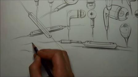 耳机设计手绘方案