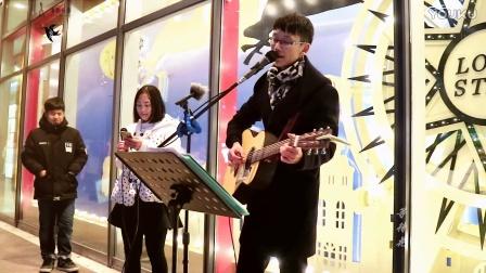 《美丽的神话》平安夜街头弹唱(翻唱:余雅雯&徐欢,弹奏:徐欢)(第二十八期)