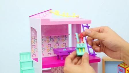 小猪佩奇玩可以出冰块的玩具冰箱 96