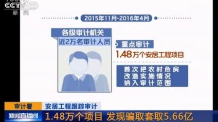 安居工程跟踪审计 审计署:1.48万个项目 发现骗取套取5.66亿