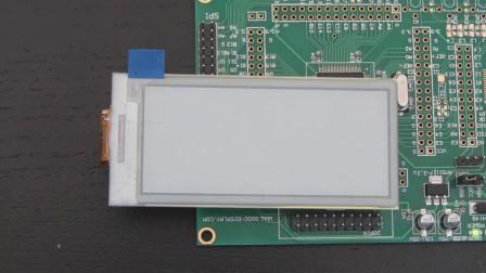 2.9寸电子纸屏,可实现局部刷新 GDE029A1视频
