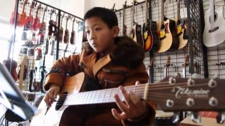 泰安七乐琴行  李俊志  吉他演奏 《 南泽大介指弹练习》