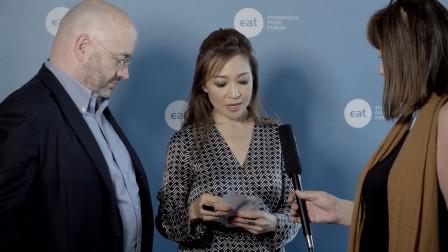 聚思主席刘佩琪女士和 Peter Bakker 在2016年斯德哥尔摩饮食论坛