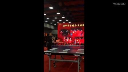 国乒技术挑战 定点发球比赛