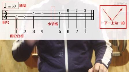零基础尤克里里教学 第六课 尤克里里四弦谱和简谱【玫瑰乐器】