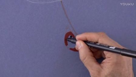 用水彩可以画出风中的瓢虫?