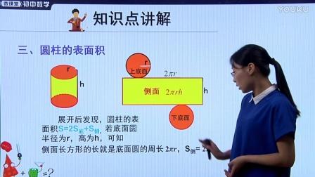 人教版初中数学七上《几何体的表面积》名师微课 北京杨俊丽