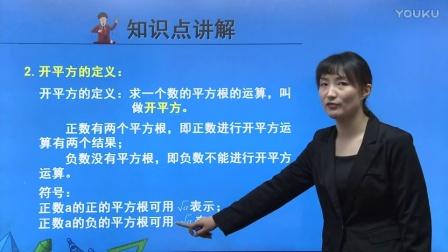 人教版初中数学七下《平方根》名师微课 北京刘红蕾