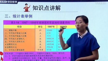 人教版初中數學七下《統計表》名師微課 北京楊俊麗