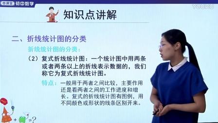 人教版初中數學七下《折線統計圖》名師微課 北京楊俊麗