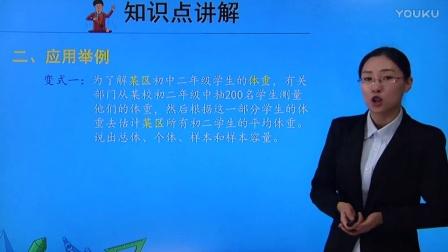 人教版初中數學七下《總體、個體、樣本、樣本容量》名師微課 北京楊俊麗