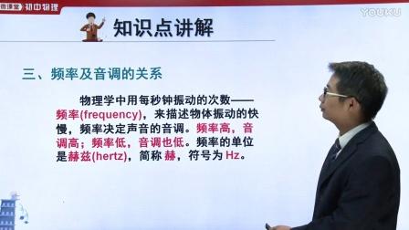 初中物理人教版八上《频率及音调的关系》名师微课  湖北龙桂林