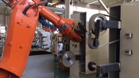 锌合金门把手机器人打磨系统