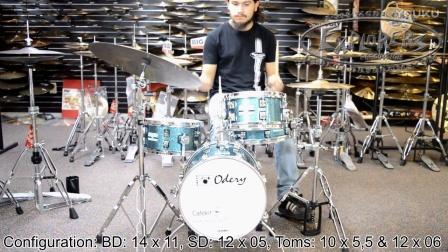 odery cafekit portable drum set