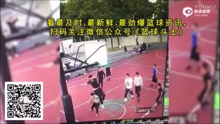 悲剧!男子打球高高跳起头着地 虽爱篮球安全第一