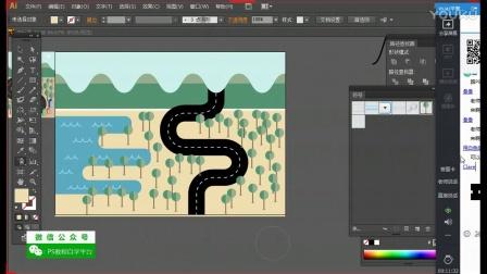 AI:扁平风格矢量地图(下)illustrator入门教程