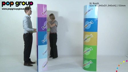 XL booth (patented display), by POP Group!