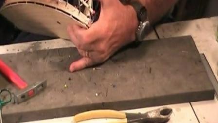 03 尖头船船体的制作——计算船壳木条切削尺寸 继续粘接船壳