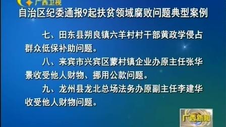 自治区纪委通报9起扶贫领域腐败问题典型案例 170302 广西新闻