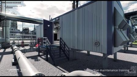 VR BIM案例 《炼油厂》 - UNIGINE2.4.1 - UNISOL Technologies
