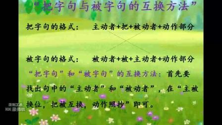 《把字句與被字句互換方法》小學語文通用-禮泉縣實驗小學-王引峰-陜西省首屆微課大賽