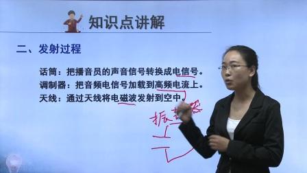 初中物理人教版九年级《无线电广播的发射和接收》名师微课  北京祝华