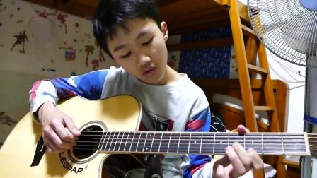 20170319林兰肖开始学弹吉他曲《爱的罗漫史》
