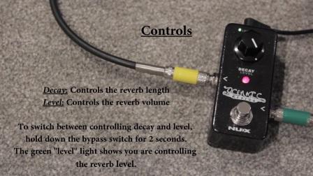 NUX oceanic reverb迷你混响单块效果器 音色视听