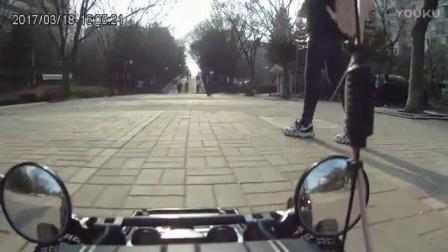 雷虎G5安装摄像头和美女赛跑