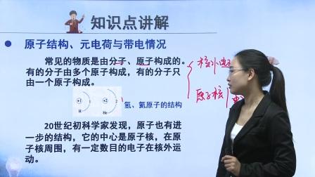 初中物理人教版九年级《原子结构、元电荷与带电情况》名师微课  北京祝华