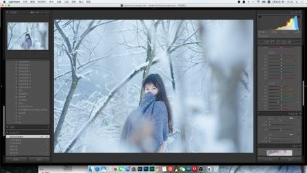 斗鱼直播第5期 冰蓝雪景人像后期教学 运用到PS和lightroom