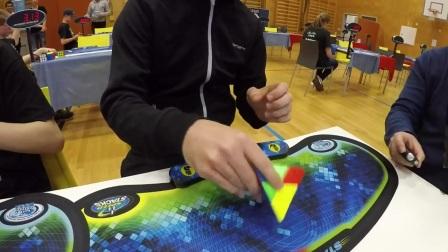 Oscar Roth Andersen 3.13 Pyraminx average @ Norwegian Championship 2017