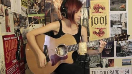 美国姑娘Lindsey Saunders演奏的一首指弹吉他作品「Decision」