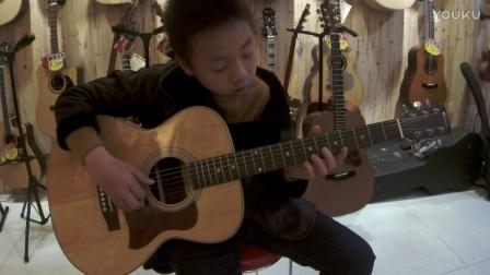 平阳吉米琴行 民谣指弹吉他学员 翻弹 南泽大介 指弹练习曲 - cover by 上官胜康