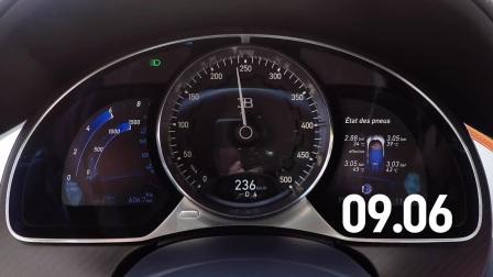 布加迪Bugatti Chiron 0-200mph(322km-h)加速仅16秒