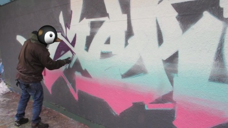 GRAFFITI - Piece of the day - Zek Scien & Debza.mp4