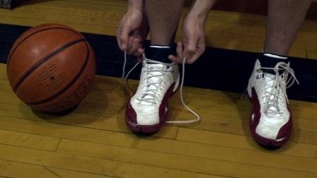 YSSC-1990-篮球运动员篮球鞋慢动作系鞋带实拍慢镜高清视频素材