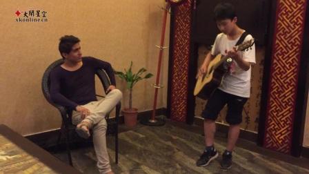 庆祝外国朋友生日林兰肖吉他弹唱《姑娘》