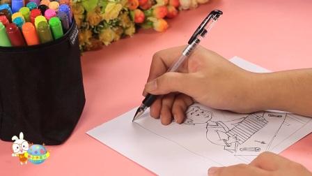 儿童益智成语简笔画凿壁偷光--小卡讲故事