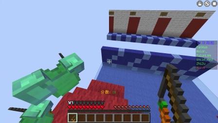 【红叔】红小队竞技 区块跑酷【上】- 我的世界★Minecraft☆多人游戏