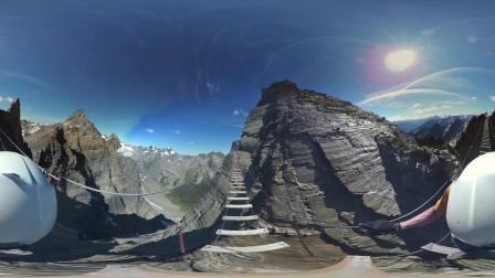【加拿大BC省360°全景视频】库特尼落基山脉铁道攀登