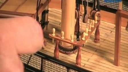 13 索具部分——静索及绳梯的制作