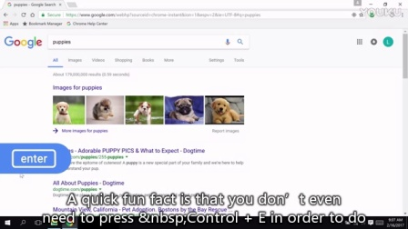 Navigating Chrome on Windows by Keyboard: Searching and the Address Bar