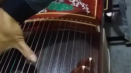 金韵古筝红木螺钿孔雀