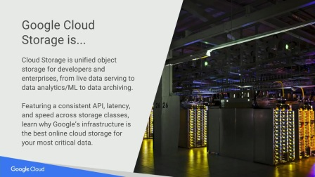 Creating best-in-class storage solutions with Google Cloud Storage