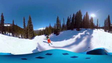 【加拿大BC省360°全景视频】360°虚拟滑雪