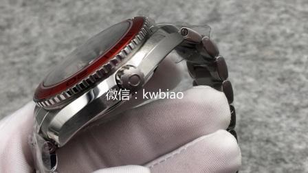 视频:外观展示,KW厂海马橙圈钢带45mm
