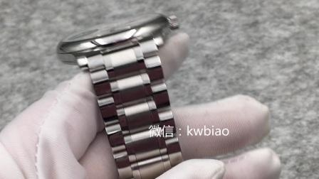 视频:外观展示,MK厂浪琴3字位单历,白壳钢带