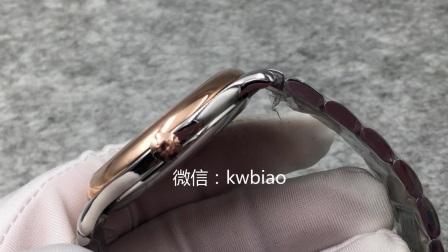 视频:外观展示,MK厂浪琴6字位单历,间玫瑰金钢带